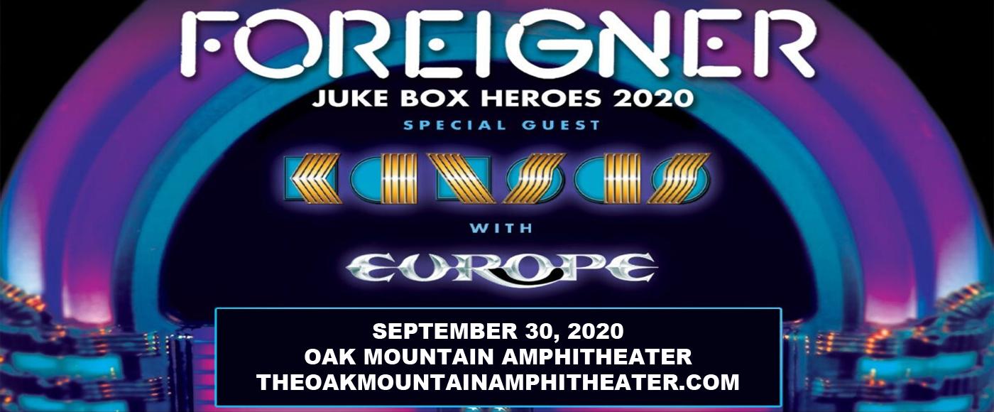 Foreigner, Kansas & Europe at Oak Mountain Amphitheatre