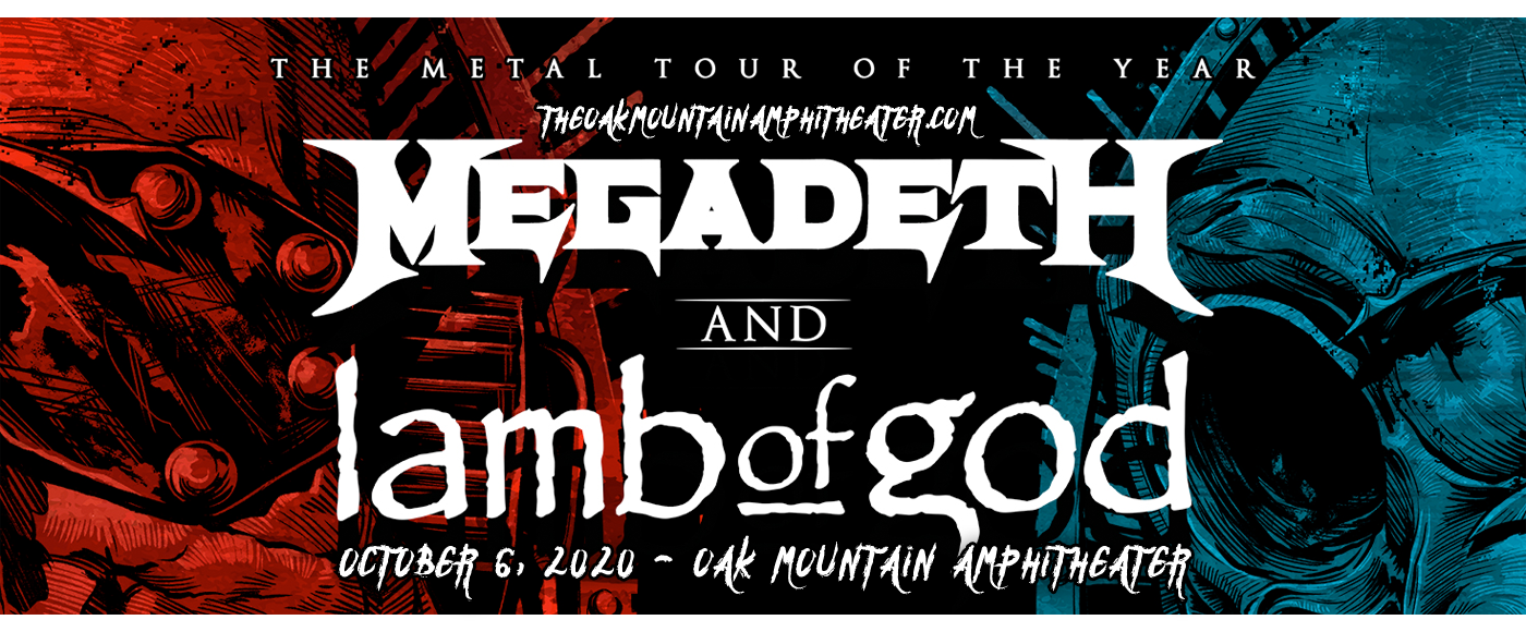 Megadeth & Lamb of God at Oak Mountain Amphitheatre