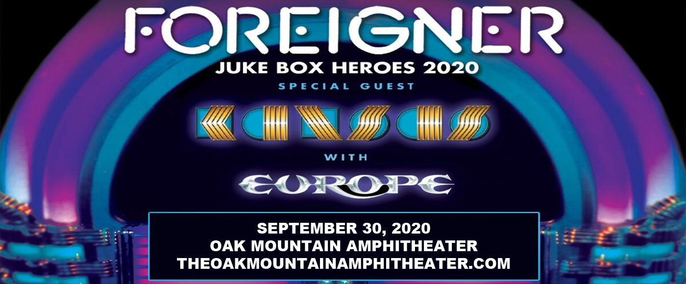 Foreigner, Kansas & Europe [CANCELLED] at Oak Mountain Amphitheatre